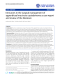 "Báo cáo y học: "" Intricacies in the surgical management of appendiceal mucinous cystadenoma: a case report and review of the literature"""