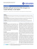 "Báo cáo y học: "" Alveolar soft part sarcoma of the tongue in a 3-year-old boy: a case report"""