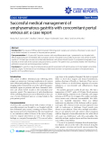 "Báo cáo y học: ""Successful medical management of emphysematous gastritis with concomitant portal venous air: a case report"""