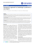 "Báo cáo y học: ""  Therapeutic approach to Gradenigo's syndrome: a case report."""