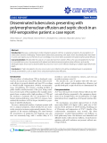 "Báo cáo y học: ""Disseminated tuberculosis presenting with polymorphonuclear effusion and septic shock in an HIV-seropositive patient: a case report"""