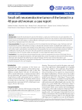 """Báo cáo y học: """" Small cell neuroendocrine tumor of the breast in a 40 year-old woman: a case report"""""""