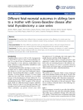 "Báo cáo y học: ""Different fetal-neonatal outcomes in siblings born to a mother with Graves-Basedow disease after total thyroidectomy: a case series"""