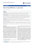 "Báo cáo y học: ""Pica in iron deficiency: a case series"""