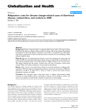 """báo cáo khoa học: """"Adaptation costs for climate change-related cases of diarrhoeal disease, malnutrition, and malaria in 2030 Kristie L Ebi"""""""