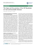 "báo cáo khoa học: ""The hope and the promise of the UN Resolution on non-communicable diseases"""