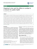 "báo cáo khoa học: "" Organised crime and the efforts to combat it: a concern for public health"""