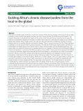 "báo cáo khoa học: ""Tackling Africa's chronic disease burden: from the local to the global"""