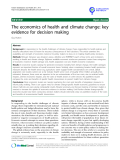 """báo cáo khoa học: """" The economics of health and climate change: key evidence for decision making"""""""