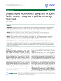 "báo cáo khoa học: "" Understanding multinational companies in public health systems, using a competitive advantage framework Jane Lethbridge"""