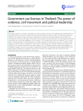 "báo cáo khoa học: "" Government use licenses in Thailand: The power of evidence, civil movement and political leadership"""