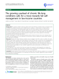 "báo cáo khoa học: ""  The growing caseload of chronic life-long conditions calls for a move towards full selfmanagement in low-income countries"""