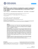 "Báo cáo y học: "" Facial herpes zoster infection precipitated by surgical manipulation of the trigeminal nerve during exploration of the posterior fossa: a case report"""