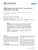 "Báo cáo y học: ""Bruising following natalizumab infusion for relapsing-remitting multiple sclerosis: a case report"""