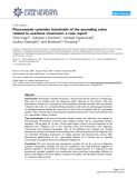 """Báo cáo y học: """" Pneumatosis cystoides intestinalis of the ascending colon related to acarbose treatment: a case report"""""""