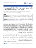"Báo cáo y học: ""  Chronic constipation due to presacral teratoma in a 36-year-old woman: a case report"""