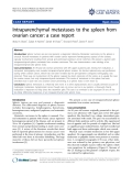 """Báo cáo y học: """" Intraparenchymal metastases to the spleen from ovarian cancer: a case report"""""""