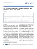 """Báo cáo y học: """" An alternative treatment of hyperlipidemia with red yeast rice: a case report"""""""
