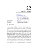 Mechanical Systems Design C22 Control of Robots