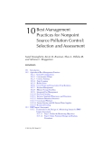 AGRICULTURAL NONPOINT SOURCE POLLUTION: Watershed Management and Hydrology - Chapter 10