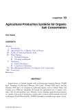 ORGANIC SOILS and PEAT MATERIALS for SUSTAINABLE AGRICULTURE - CHAPTER 10 (end)