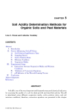 ORGANIC SOILS and PEAT MATERIALS for SUSTAINABLE AGRICULTURE - CHAPTER 5