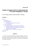 ORGANIC SOILS and PEAT MATERIALS for SUSTAINABLE AGRICULTURE - CHAPTER 9