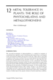 Phytoremediation of Contaminated Soil and Water - Chapter 12