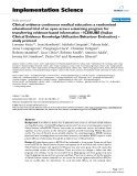 """báo cáo khoa học: """" Clinical evidence continuous medical education: a randomised educational trial of an open access e-learning program for transferring evidence-based information – ICEKUBE (Italian Clinical Evidence """""""
