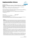 """báo cáo khoa học: """" Are there valid proxy measures of clinical behaviour? a systematic review"""""""