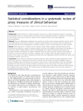 """báo cáo khoa học: """"  Statistical considerations in a systematic review of proxy measures of clinical behaviour"""""""