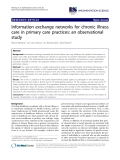 """báo cáo khoa học: """"  Information exchange networks for chronic illness care in primary care practices: an observational study"""""""