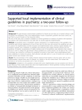 "báo cáo khoa học: ""  Supported local implementation of clinical guidelines in psychiatry: a two-year follow-up"""