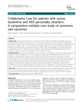 "Báo cáo y học: "" Collaborative Care for patients with severe borderline and NOS personality disorders: A comparative multiple case study on processes and outcomes"""