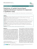"Báo cáo y học: ""Experiences of guided Internet-based cognitive-behavioural treatment for depression: A qualitative study"""