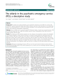 "Báo cáo y học: ""  The elderly in the psychiatric emergency service (PES); a descriptive study"""