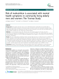 "Báo cáo y học: ""  Risk of malnutrition is associated with mental health symptoms in community living elderly men and women: The Tromsø Study"""