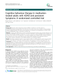 "Báo cáo y học: "" Cognitive behaviour therapy in medicationtreated adults with ADHD and persistent Symptoms: A randomized controlled trial'"