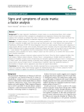 "Báo cáo y học: "" Signs and symptoms of acute mania: a factor analysis"""