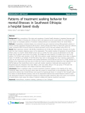 "Báo cáo y học: "" Patterns of treatment seeking behavior for mental illnesses in Southwest Ethiopia: a hospital based study"""