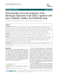 "Báo cáo y học: "" Dimensionality and scale properties of the Edinburgh Depression Scale (EDS) in patients with type 2 diabetes mellitus: the DiaDDzoB study"""
