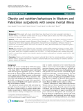 "Báo cáo y học: ""  Obesity and nutrition behaviours in Western and Palestinian outpatients with severe mental illness"""