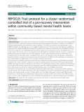 Báo cáo y học: REFOCUS Trial: protocol for a cluster randomised controlled trial of a pro-recovery intervention within community based mental health teams