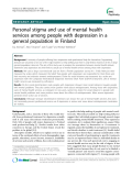 "Báo cáo y học: ""Personal stigma and use of mental health services among people with depression in a general population in Finlan"""