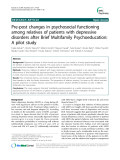 Pre-post changes in psychosocial functioning among relatives of patients with depressive disorders after Brief Multifamily