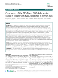 "Báo cáo y học: "" Comparison of the CES-D and PHQ-9 depression scales in people with type 2 diabetes in Tehran, Iran"""