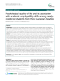 "Báo cáo y học: ""Psychological quality of life and its association with academic employability skills among newlyregistered students from three European faculties"""
