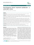 """Báo cáo y học: """" Dual diagnosis clients' treatment satisfaction - a systematic review"""""""