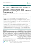 "Báo cáo y học: ""The personal and national costs of mental health conditions: impacts on income, taxes, government support payments due to lost labour force participation"""