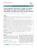 "Báo cáo y học: ""Group cognitive behavioural therapy for women with depression: pilot and feasibility study for a randomised controlled trial using mixed meth"""